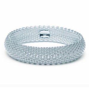 Tiffany & Co. Somerset Wide Mesh Bangle Bracelet